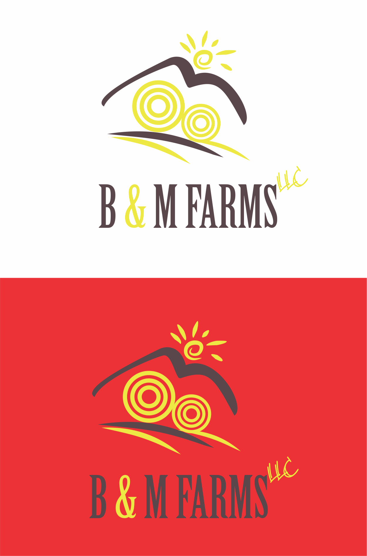 Logo Design by NEHA CHAVAN - Entry No. 31 in the Logo Design Contest Creative Logo Design for B & M Farms, LLC.