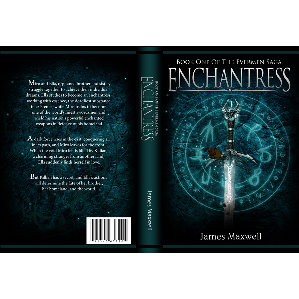Book Cover Design by omARTist - Entry No. 50 in the Book Cover Design Contest Book Cover Design for Epic Fantasy Novel: Enchantress.