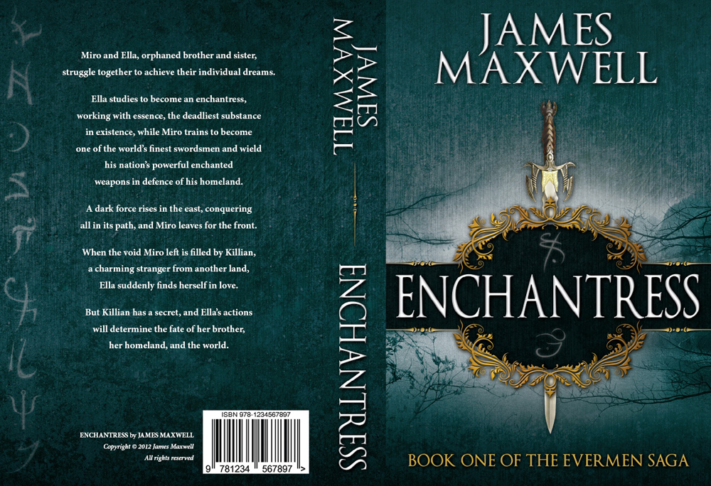 Book Cover Design by nausigeo - Entry No. 53 in the Book Cover Design Contest Book Cover Design for Epic Fantasy Novel: Enchantress.