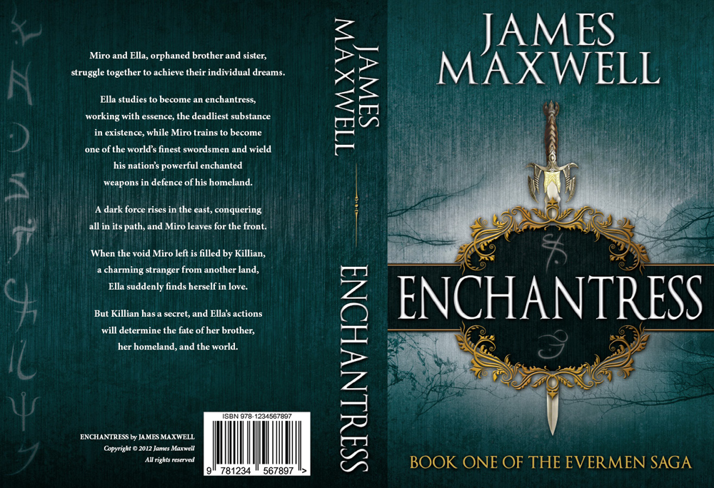 Book Cover Design by nausigeo - Entry No. 54 in the Book Cover Design Contest Book Cover Design for Epic Fantasy Novel: Enchantress.