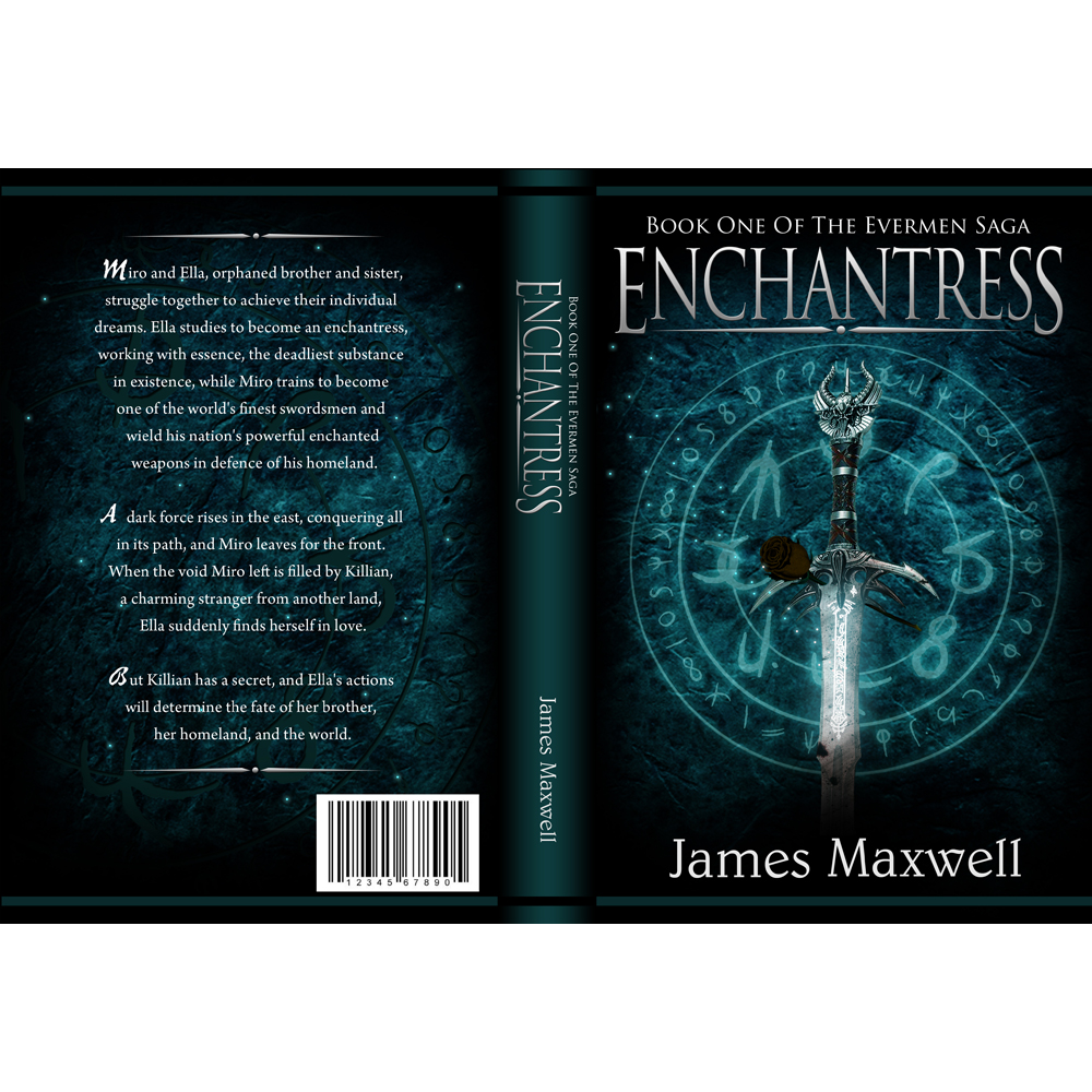 Book Cover Design by omARTist - Entry No. 55 in the Book Cover Design Contest Book Cover Design for Epic Fantasy Novel: Enchantress.
