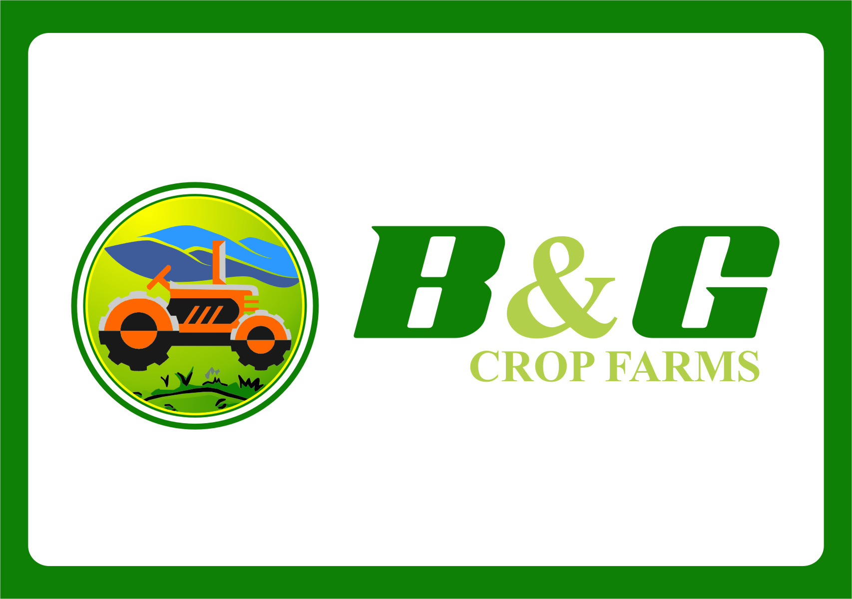Logo Design by RasYa Muhammad Athaya - Entry No. 20 in the Logo Design Contest Artistic Logo Design for B & G Crop Farms.