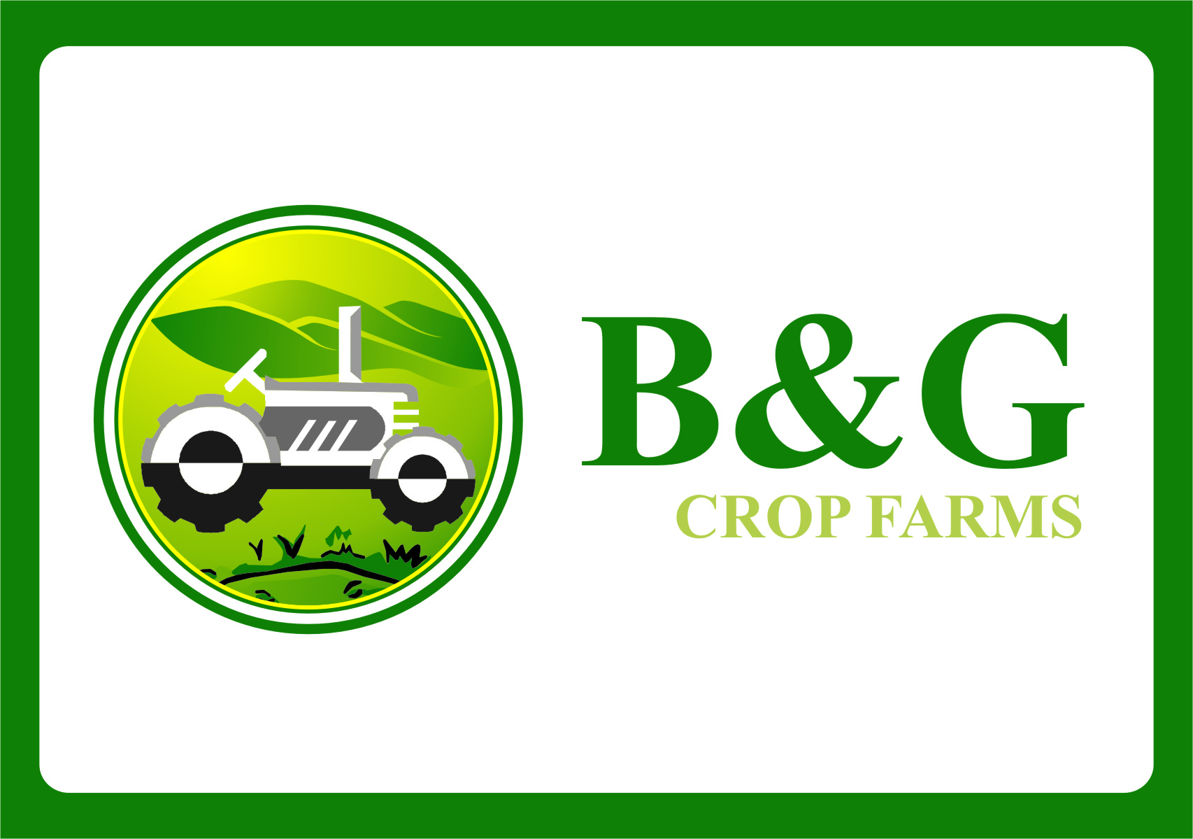 Logo Design by Ngepet_art - Entry No. 24 in the Logo Design Contest Artistic Logo Design for B & G Crop Farms.