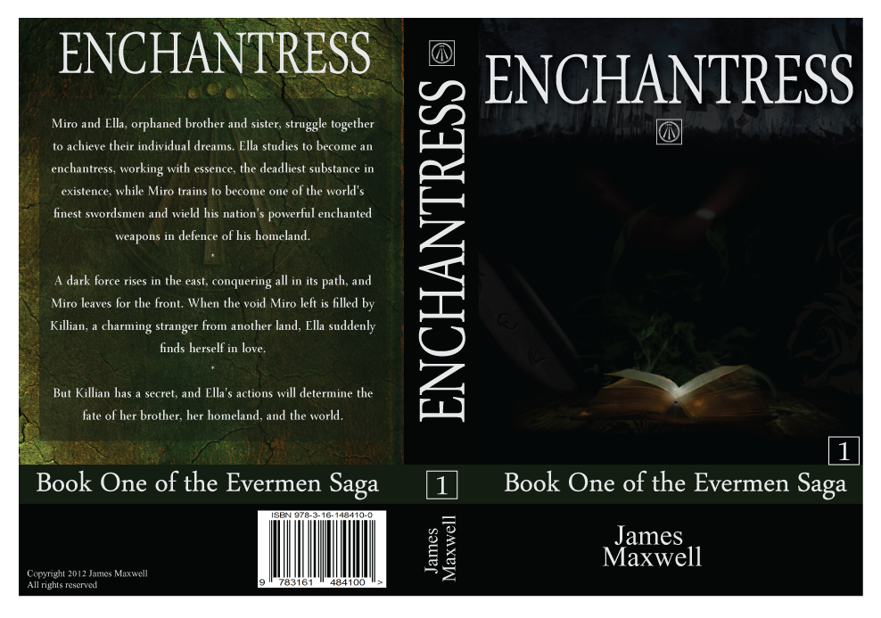 Book Cover Design by modo - Entry No. 57 in the Book Cover Design Contest Book Cover Design for Epic Fantasy Novel: Enchantress.