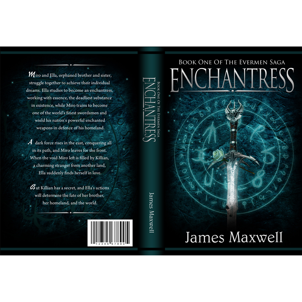 Book Cover Design by omARTist - Entry No. 59 in the Book Cover Design Contest Book Cover Design for Epic Fantasy Novel: Enchantress.