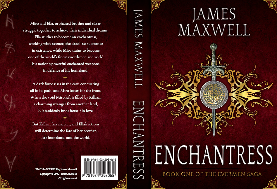 Book Cover Design by Dimitris Koletsis - Entry No. 61 in the Book Cover Design Contest Book Cover Design for Epic Fantasy Novel: Enchantress.