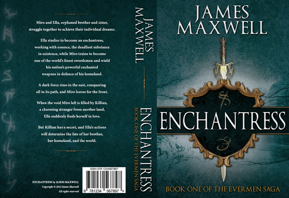 Book Cover Design by nausigeo - Entry No. 62 in the Book Cover Design Contest Book Cover Design for Epic Fantasy Novel: Enchantress.