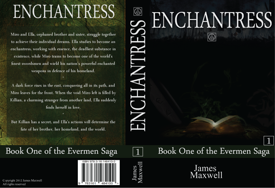Fantasy Book Cover Typography : Book cover design for epic fantasy novel enchantress