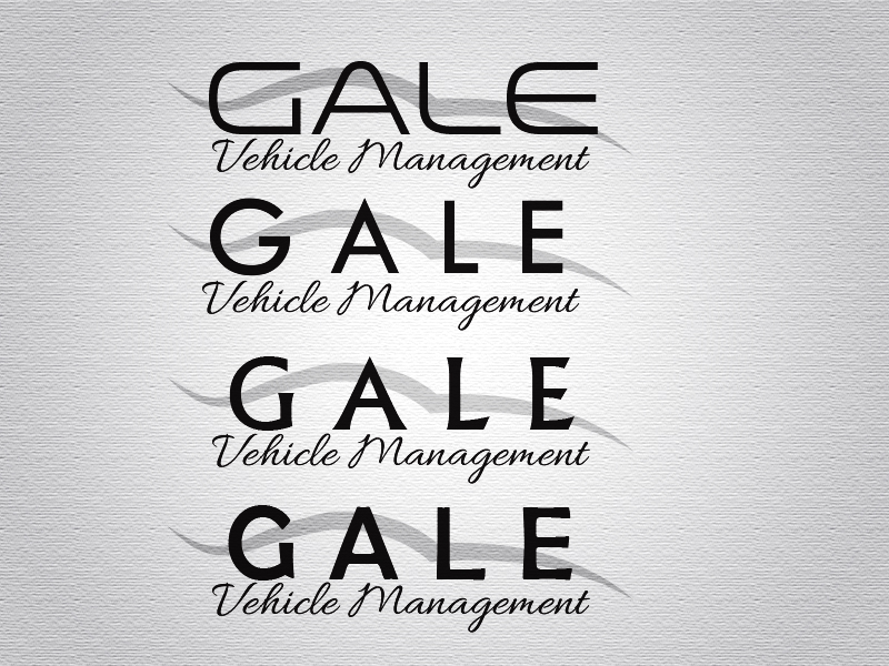 Logo Design by Mythos Designs - Entry No. 7 in the Logo Design Contest Artistic Logo Design for Gale Vehicle Management.