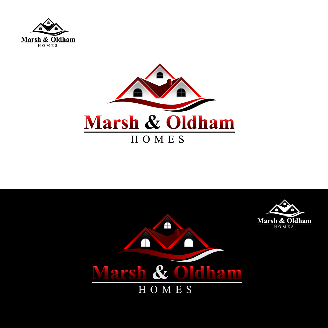 Logo Design by Private User - Entry No. 16 in the Logo Design Contest Artistic Logo Design for Marsh & Oldham Homes.