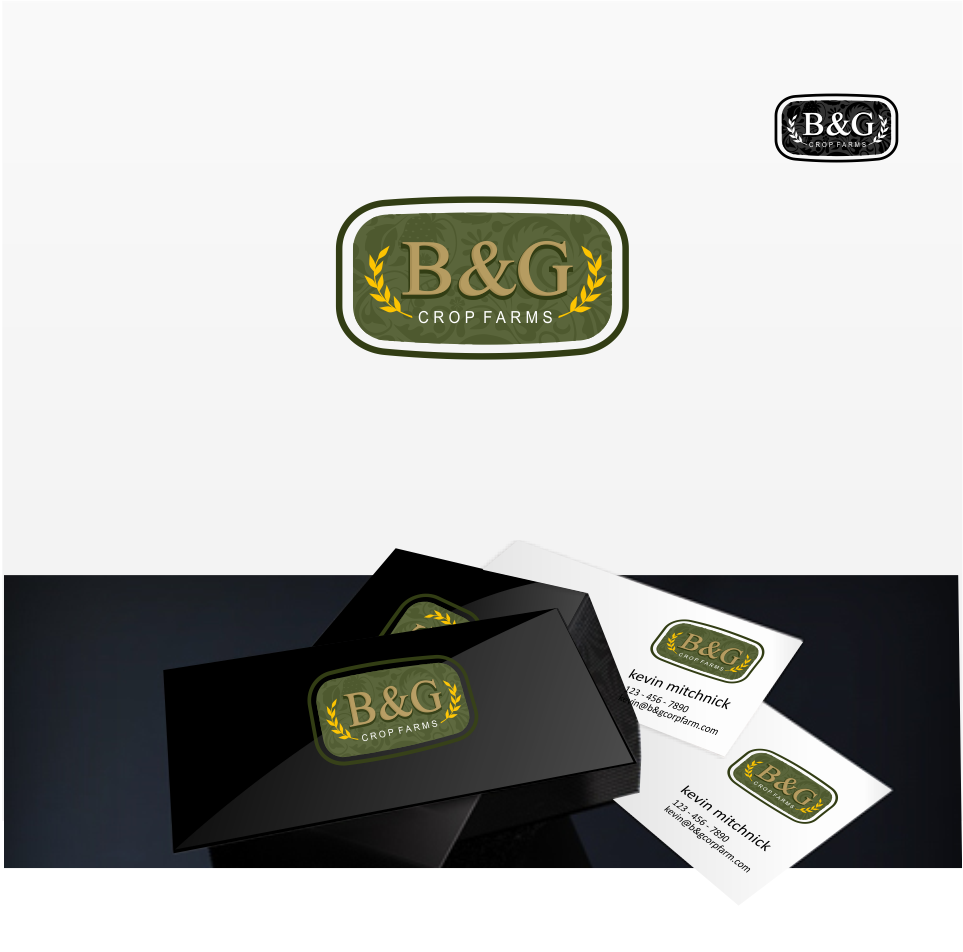 Logo Design by Mitchnick Sunardi - Entry No. 41 in the Logo Design Contest Artistic Logo Design for B & G Crop Farms.