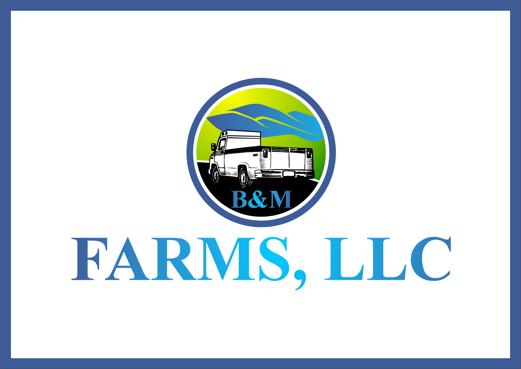 Logo Design by RasYa Muhammad Athaya - Entry No. 47 in the Logo Design Contest Creative Logo Design for B & M Farms, LLC.