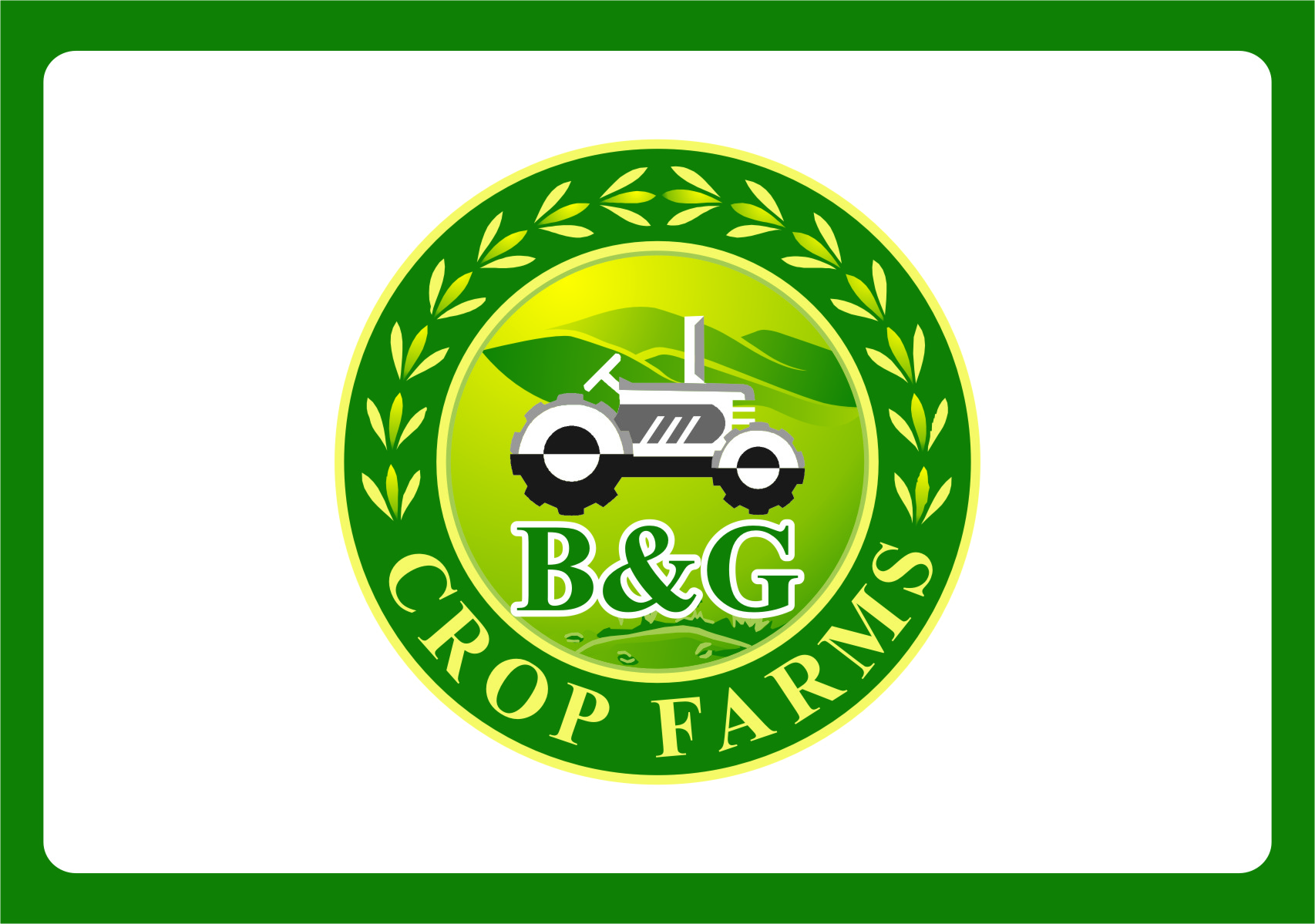 Logo Design by Ngepet_art - Entry No. 45 in the Logo Design Contest Artistic Logo Design for B & G Crop Farms.