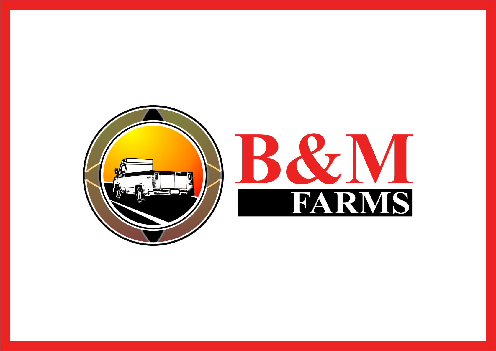 Logo Design by RoSyid Rono-Rene On Java - Entry No. 51 in the Logo Design Contest Creative Logo Design for B & M Farms, LLC.