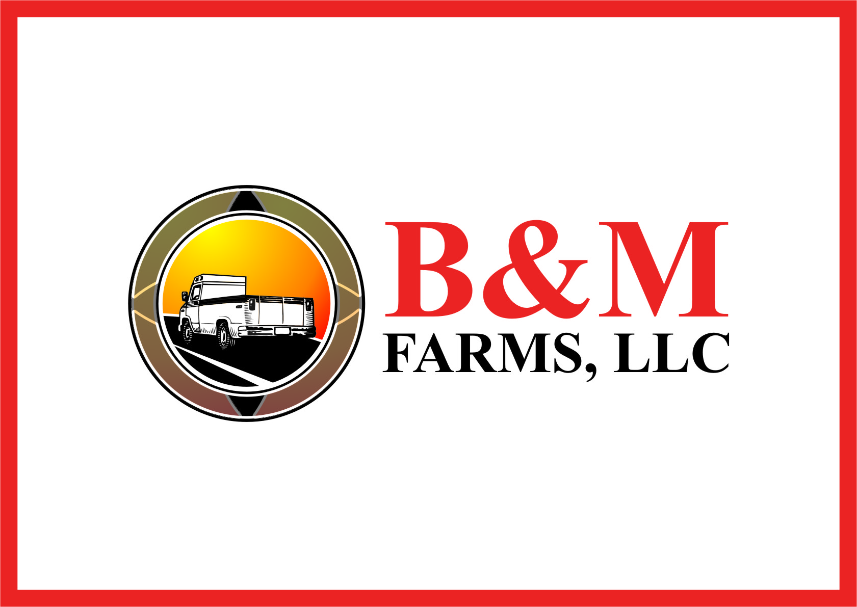 Logo Design by Ngepet_art - Entry No. 52 in the Logo Design Contest Creative Logo Design for B & M Farms, LLC.