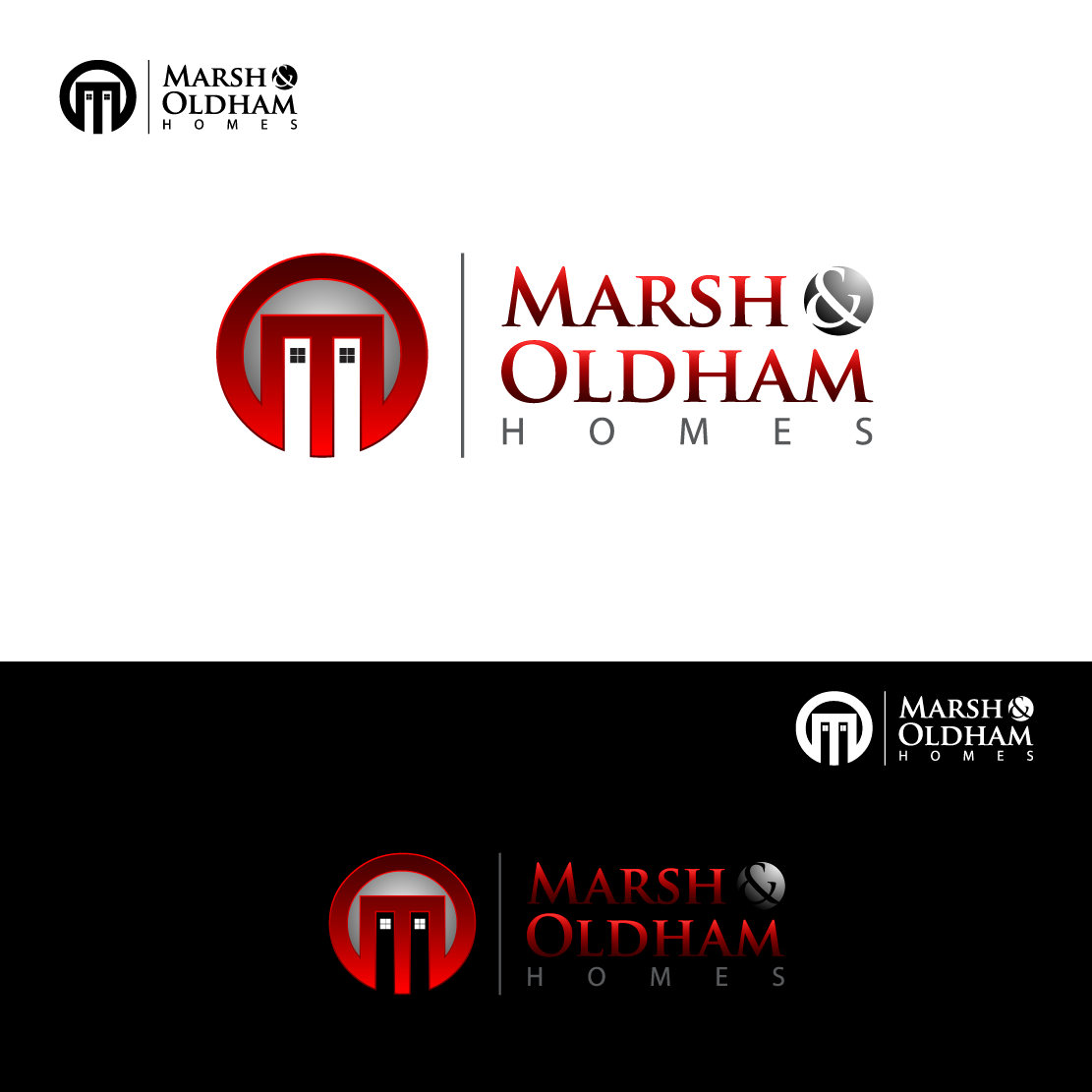 Logo Design by Private User - Entry No. 27 in the Logo Design Contest Artistic Logo Design for Marsh & Oldham Homes.