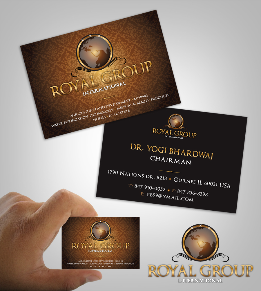 Business Card Design by nausigeo - Entry No. 5 in the Business Card Design Contest Royal Group International Business Card Design.