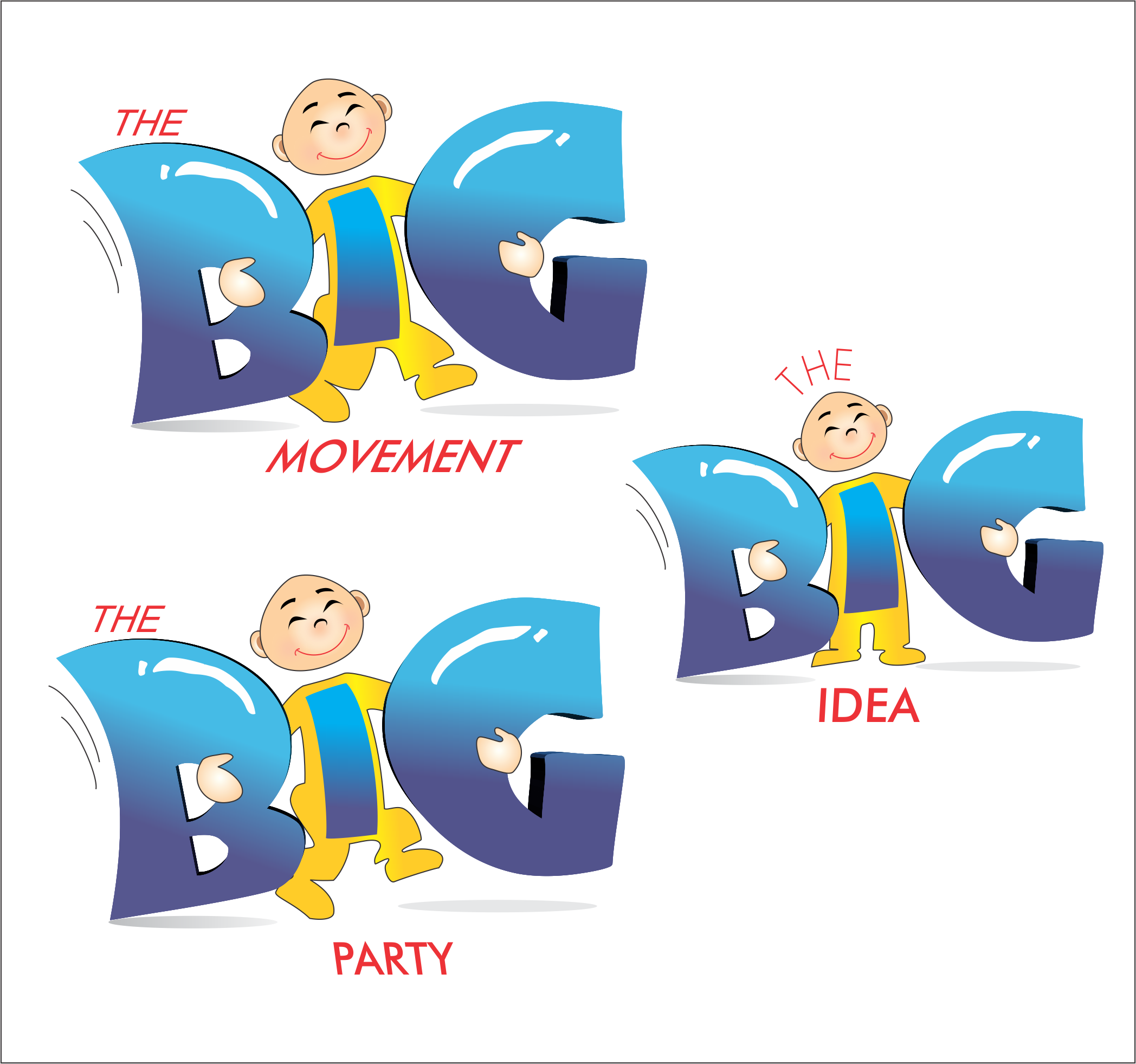 Logo Design by NEHA CHAVAN - Entry No. 66 in the Logo Design Contest Warm, Fun & Friendly Logo Design for BIG UK.