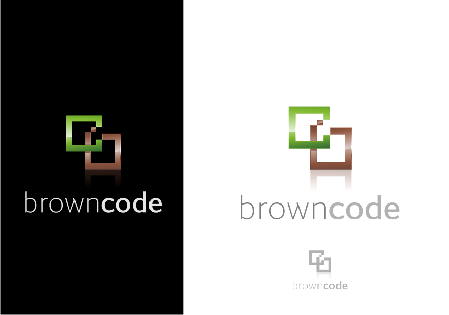 Logo Design by graphicleaf - Entry No. 47 in the Logo Design Contest New Logo Design for Brown Code.