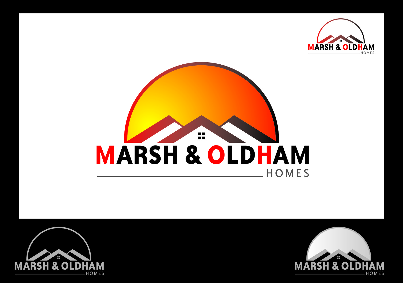 Logo Design by RasYa Muhammad Athaya - Entry No. 178 in the Logo Design Contest Artistic Logo Design for Marsh & Oldham Homes.