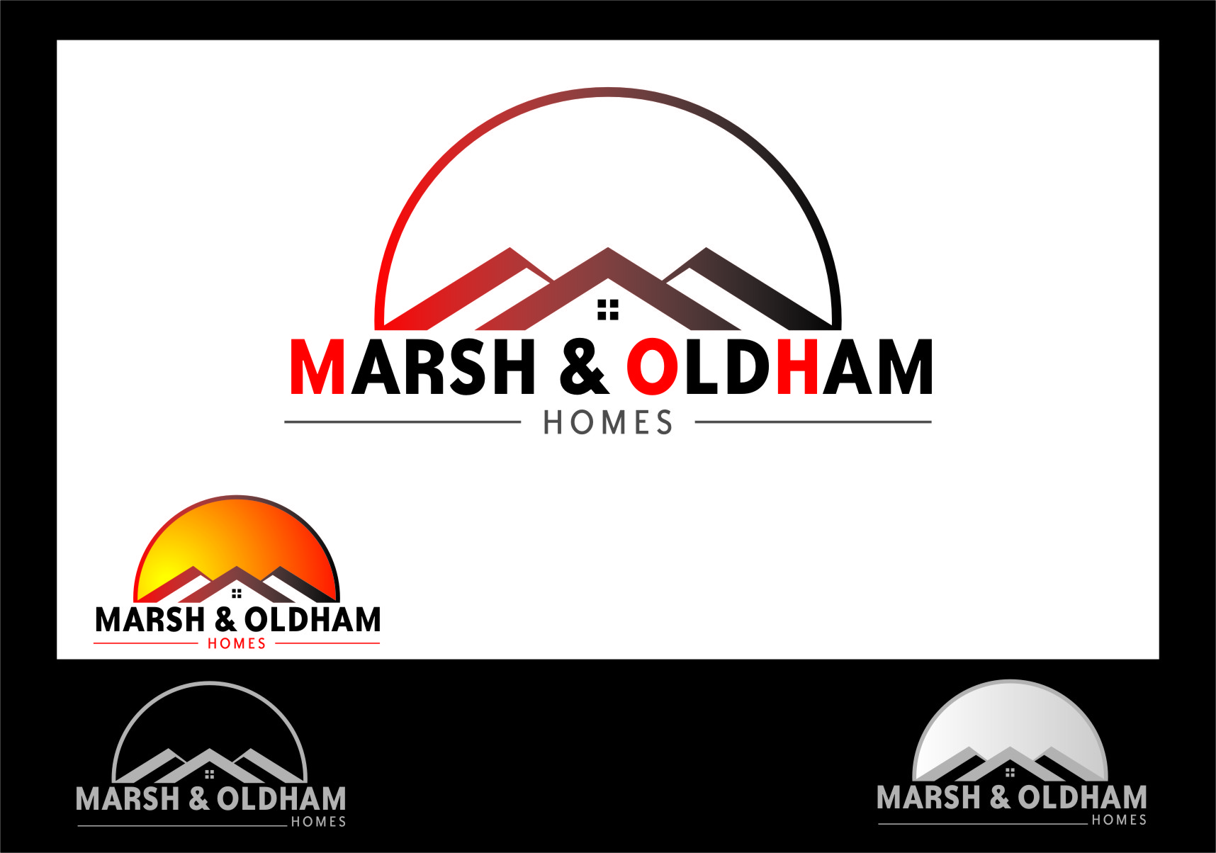 Logo Design by RasYa Muhammad Athaya - Entry No. 179 in the Logo Design Contest Artistic Logo Design for Marsh & Oldham Homes.