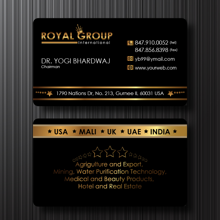 Business Card Design by lagalag - Entry No. 16 in the Business Card Design Contest Royal Group International Business Card Design.