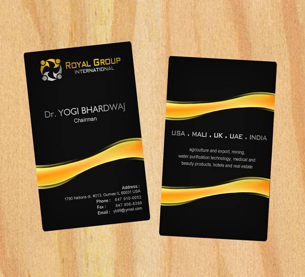 Business card design contests royal group international business business card design by respati himawan entry no 21 in the business card design reheart Image collections