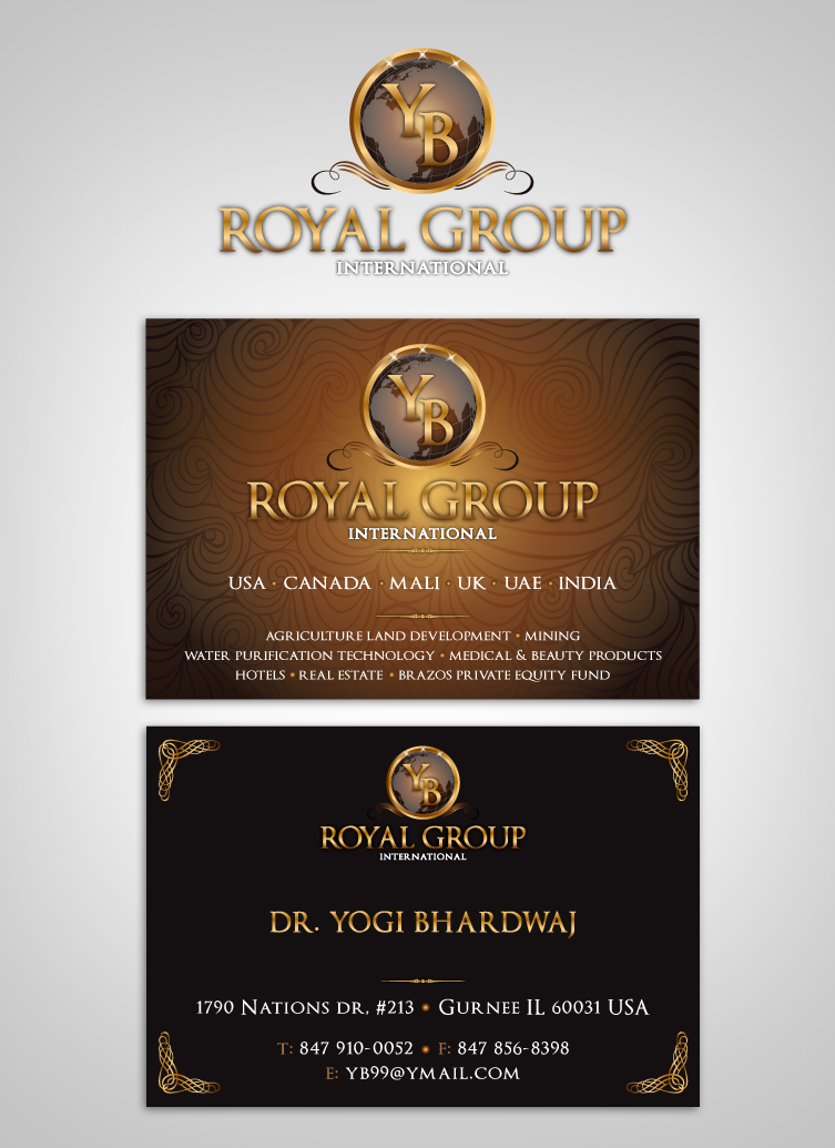 Business Card Design by nausigeo - Entry No. 27 in the Business Card Design Contest Royal Group International Business Card Design.
