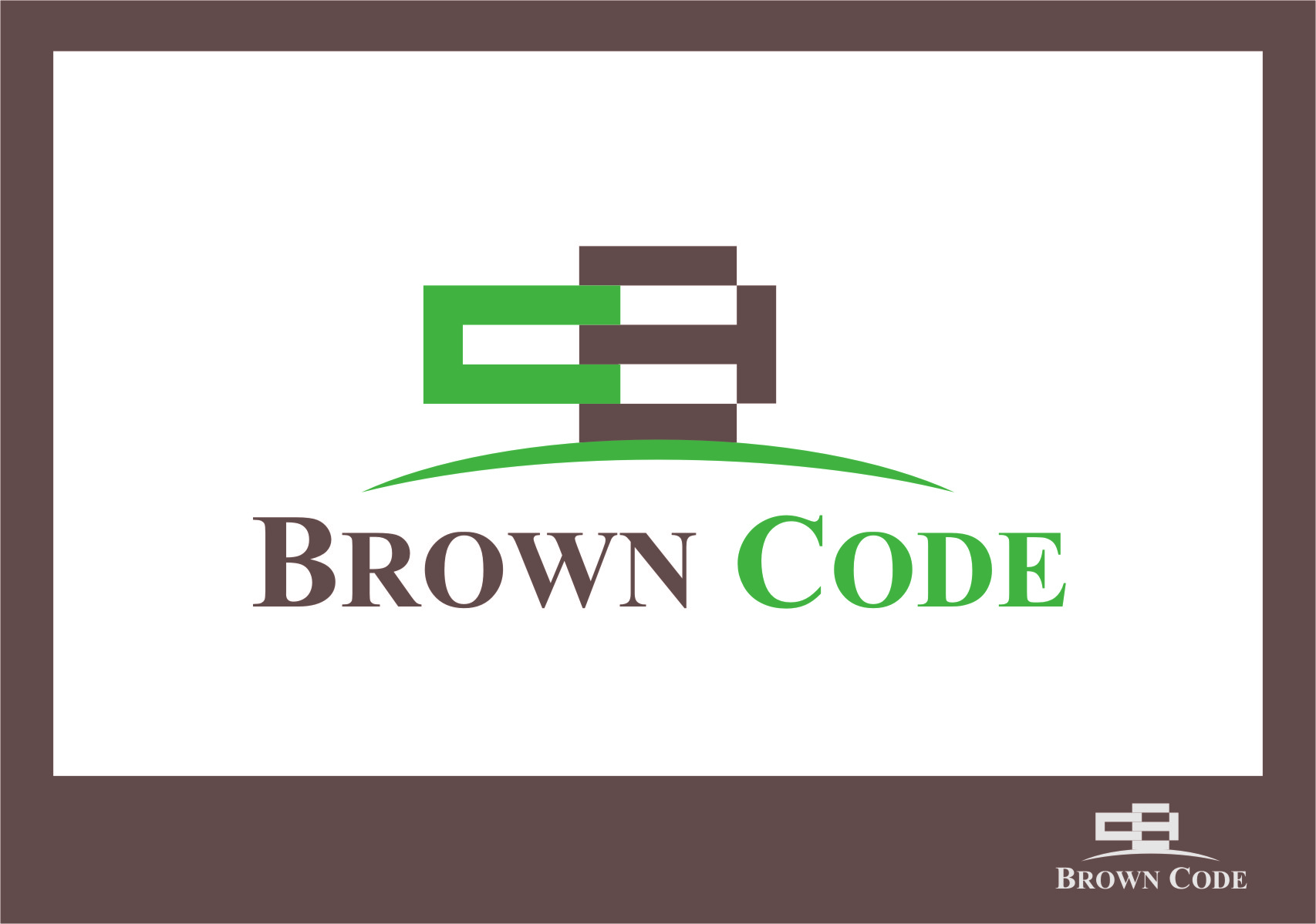 Logo Design by RasYa Muhammad Athaya - Entry No. 65 in the Logo Design Contest New Logo Design for Brown Code.