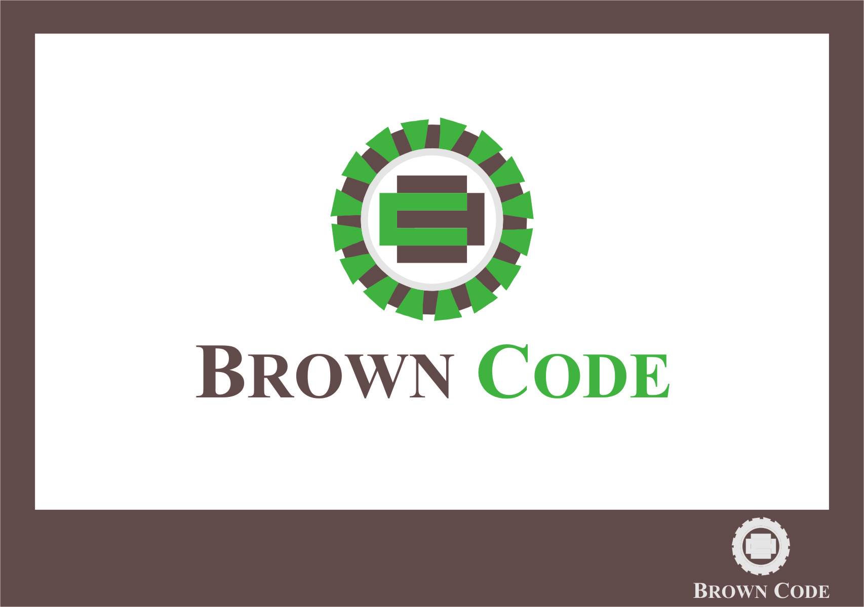 Logo Design by Ngepet_art - Entry No. 66 in the Logo Design Contest New Logo Design for Brown Code.