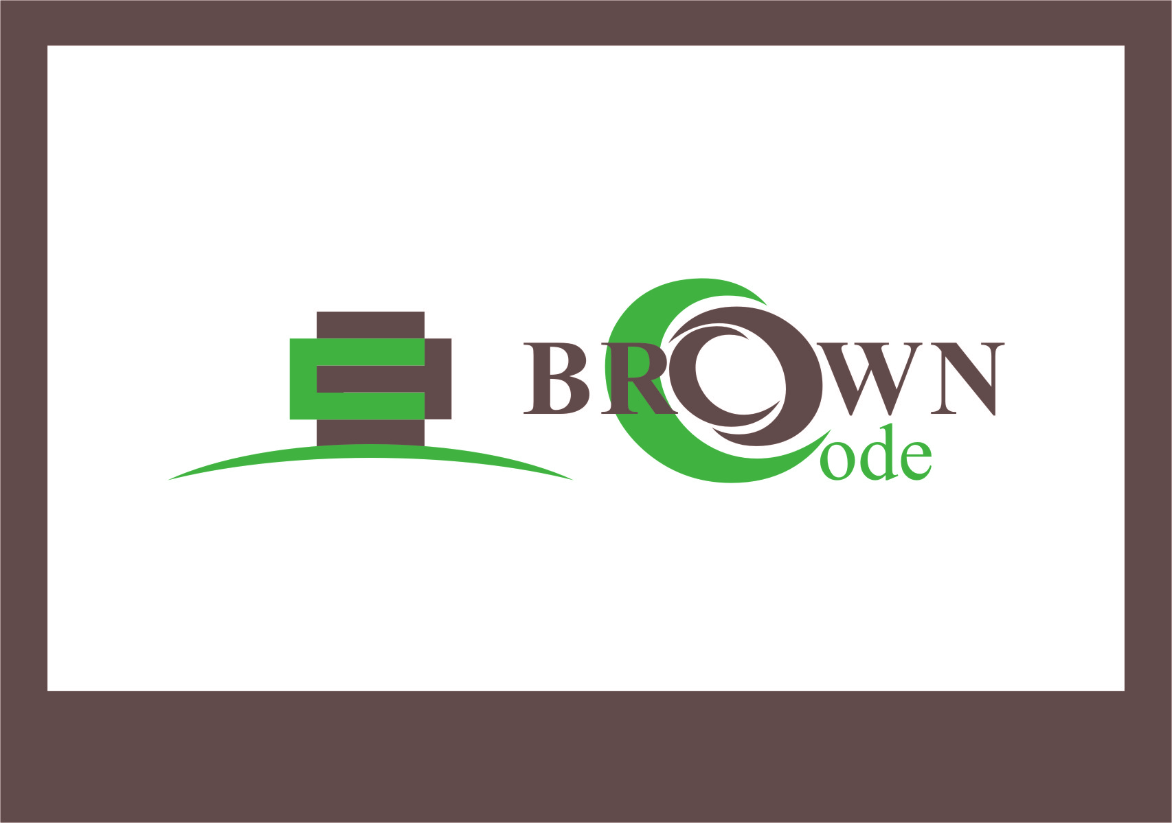 Logo Design by RoSyid Rono-Rene On Java - Entry No. 67 in the Logo Design Contest New Logo Design for Brown Code.