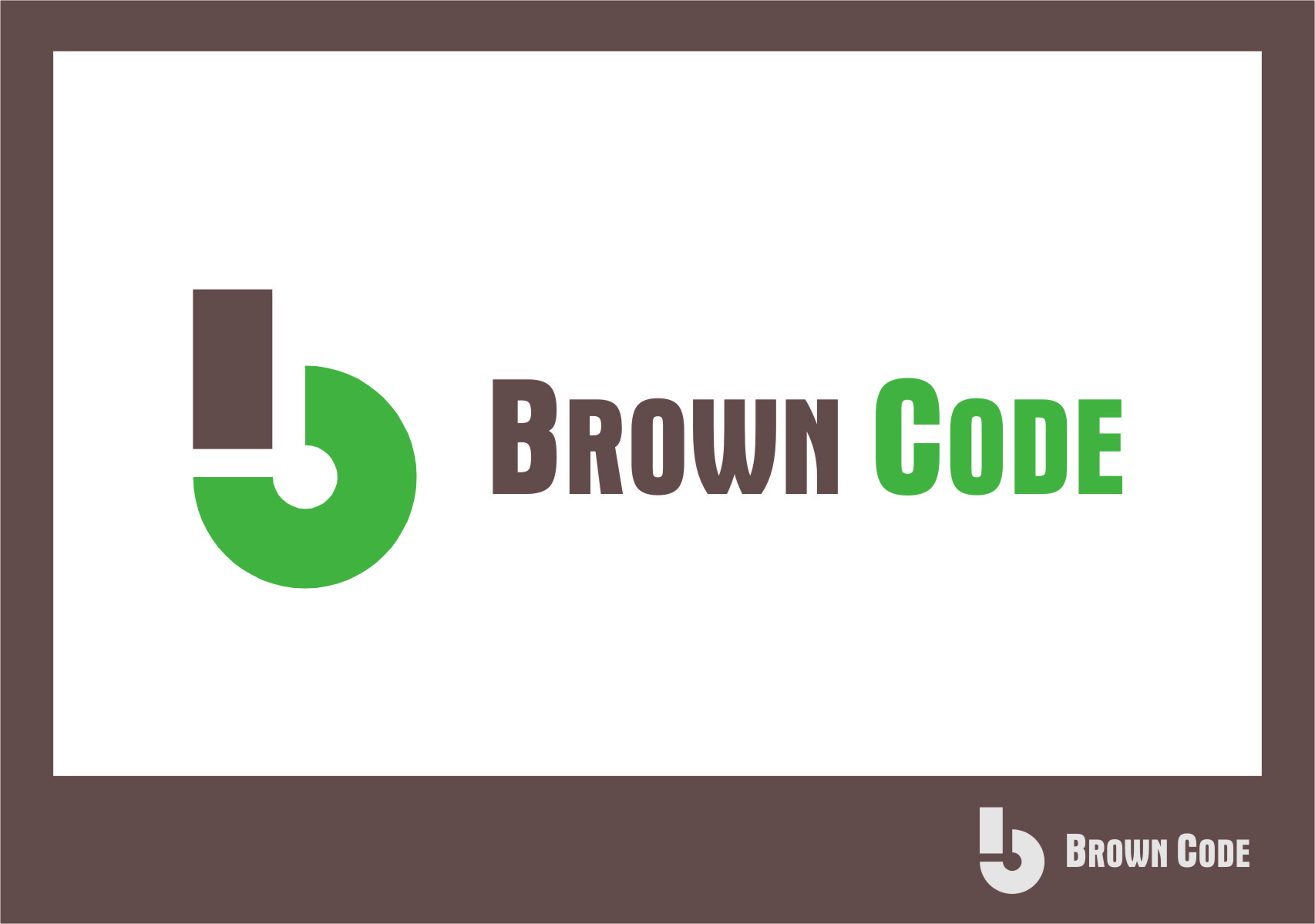 Logo Design by Ngepet_art - Entry No. 68 in the Logo Design Contest New Logo Design for Brown Code.