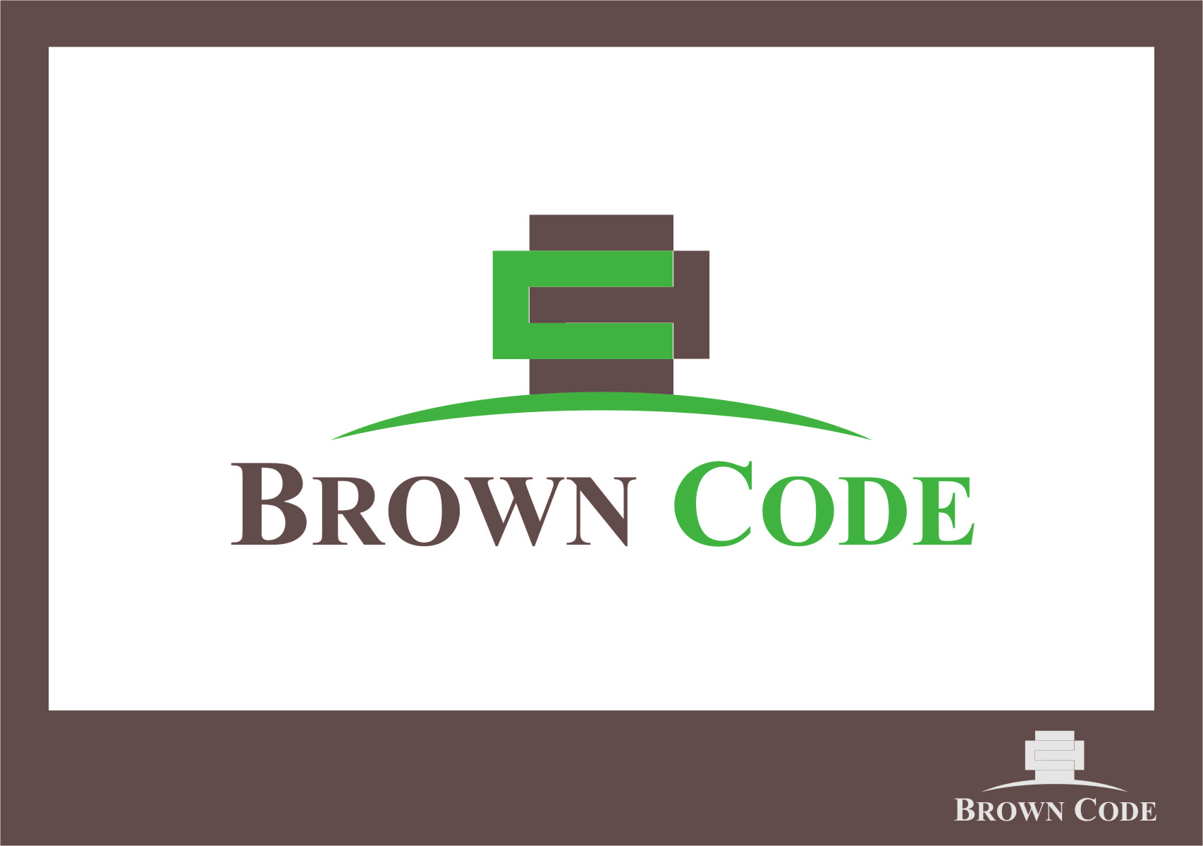 Logo Design by RasYa Muhammad Athaya - Entry No. 70 in the Logo Design Contest New Logo Design for Brown Code.