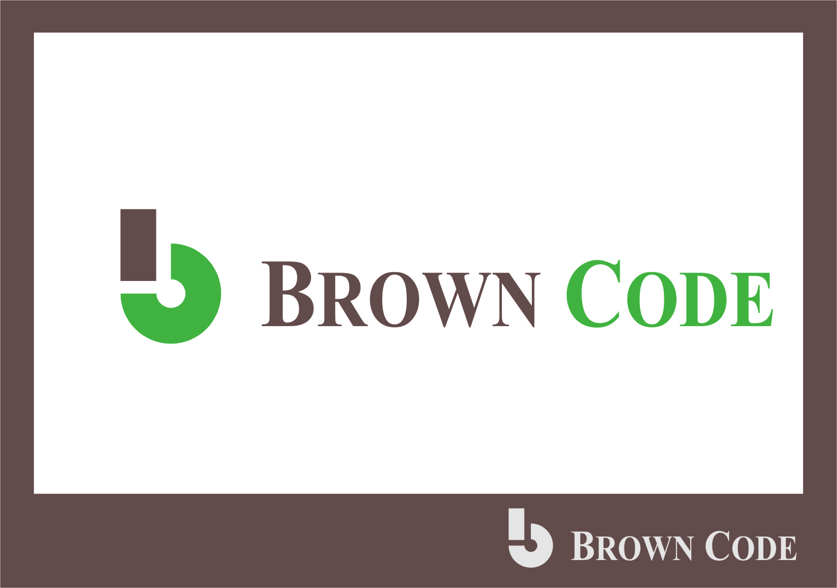 Logo Design by RoSyid Rono-Rene On Java - Entry No. 71 in the Logo Design Contest New Logo Design for Brown Code.