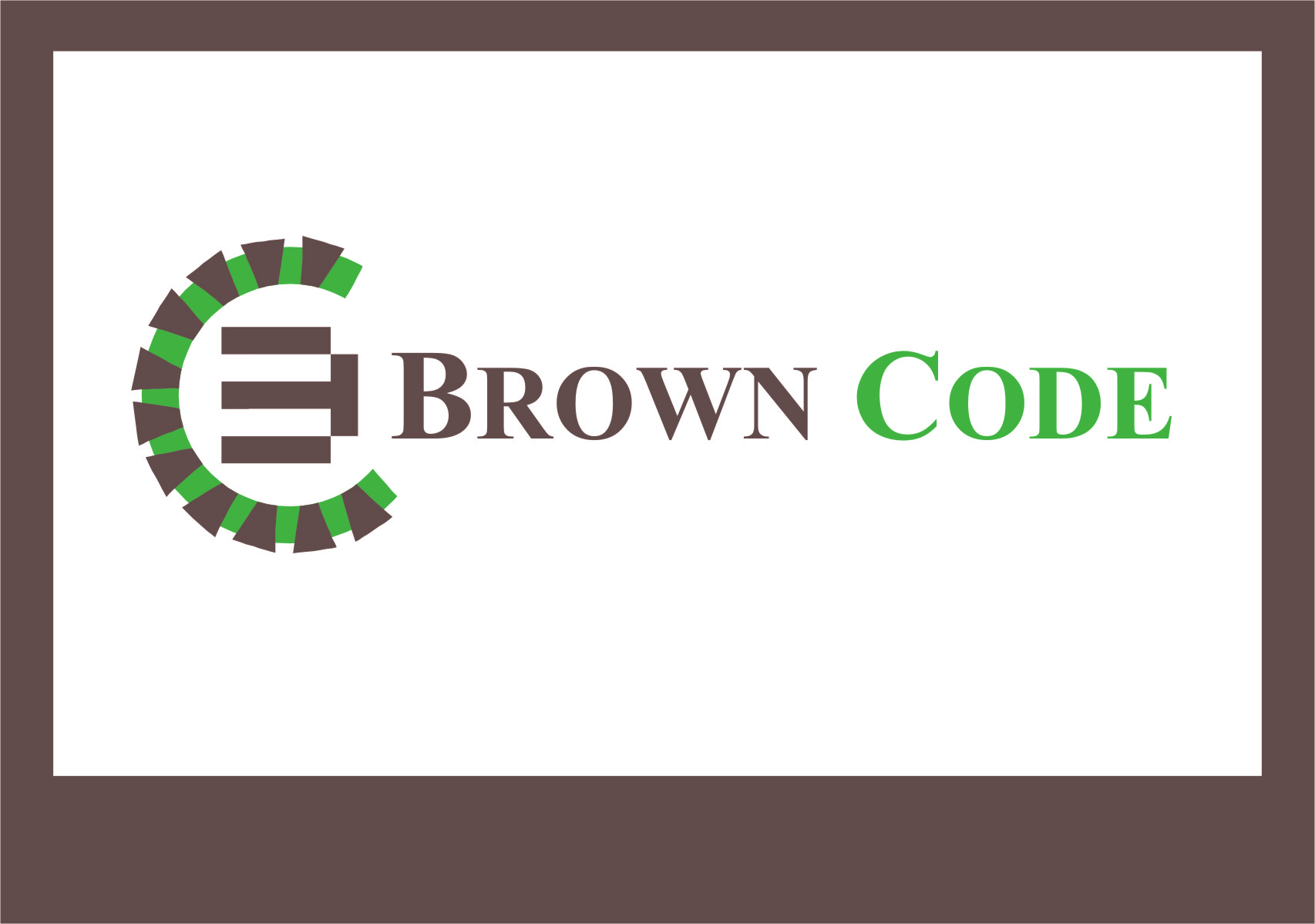 Logo Design by RasYa Muhammad Athaya - Entry No. 73 in the Logo Design Contest New Logo Design for Brown Code.