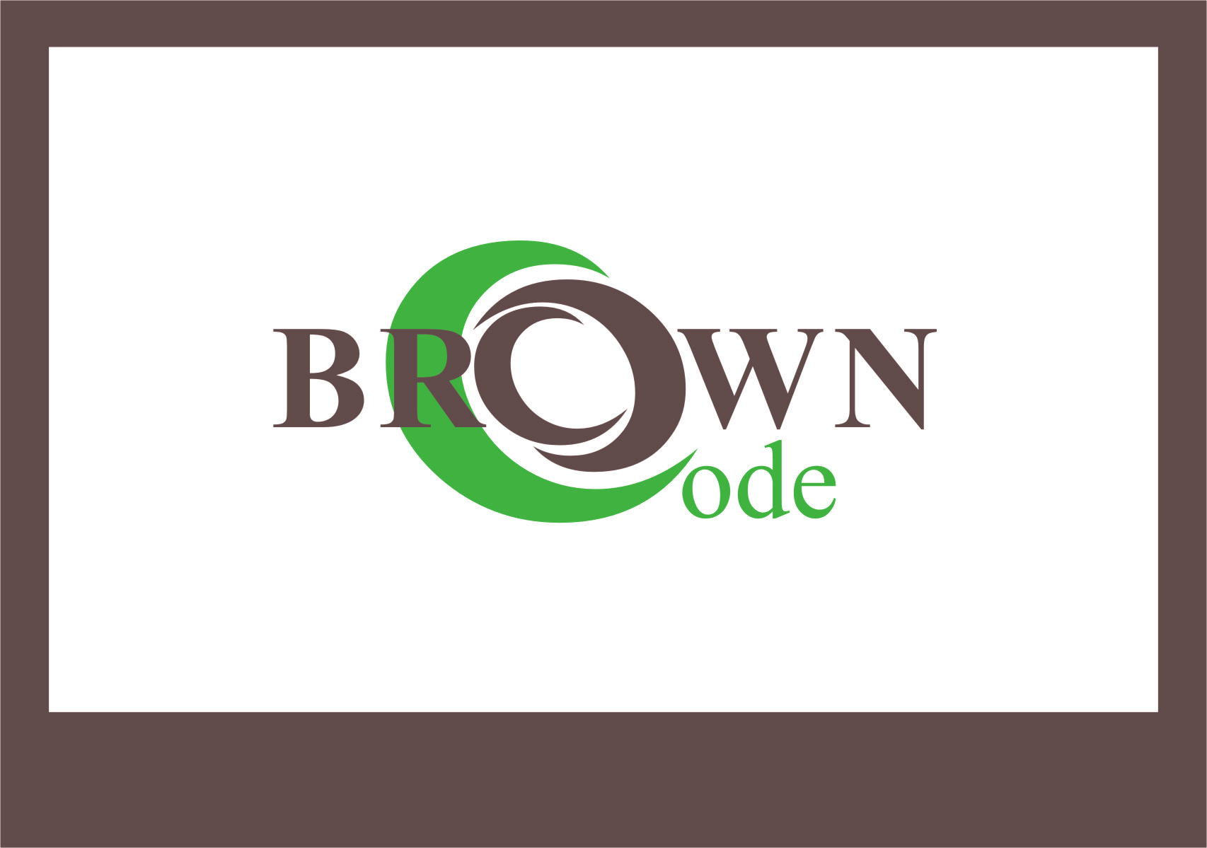 Logo Design by RoSyid Rono-Rene On Java - Entry No. 74 in the Logo Design Contest New Logo Design for Brown Code.