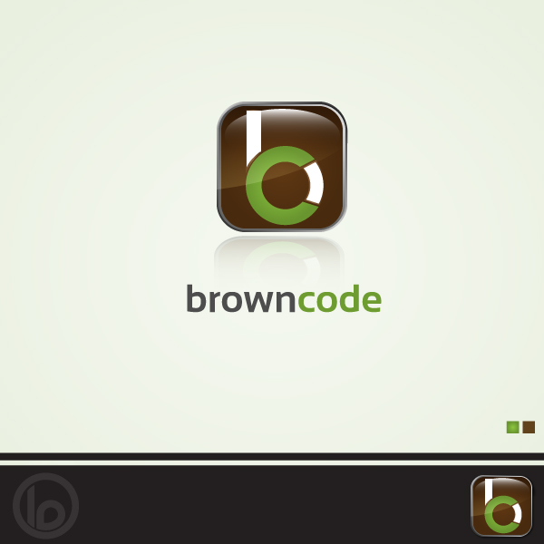 Logo Design by lumerb - Entry No. 75 in the Logo Design Contest New Logo Design for Brown Code.