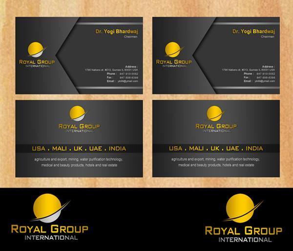 Business Card Design by Respati Himawan - Entry No. 28 in the Business Card Design Contest Royal Group International Business Card Design.