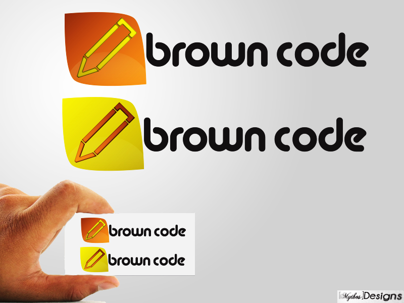 Logo Design by Mythos Designs - Entry No. 76 in the Logo Design Contest New Logo Design for Brown Code.
