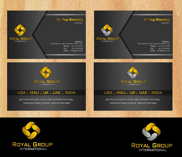 Business Card Design by Respati Himawan - Entry No. 31 in the Business Card Design Contest Royal Group International Business Card Design.