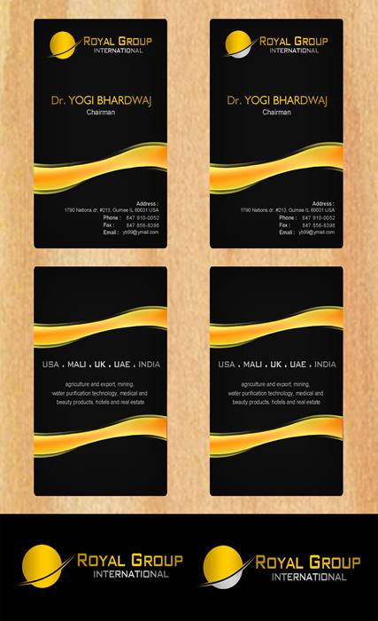 Business Card Design by Respati Himawan - Entry No. 32 in the Business Card Design Contest Royal Group International Business Card Design.