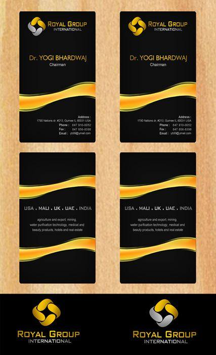 Business Card Design by Respati Himawan - Entry No. 33 in the Business Card Design Contest Royal Group International Business Card Design.
