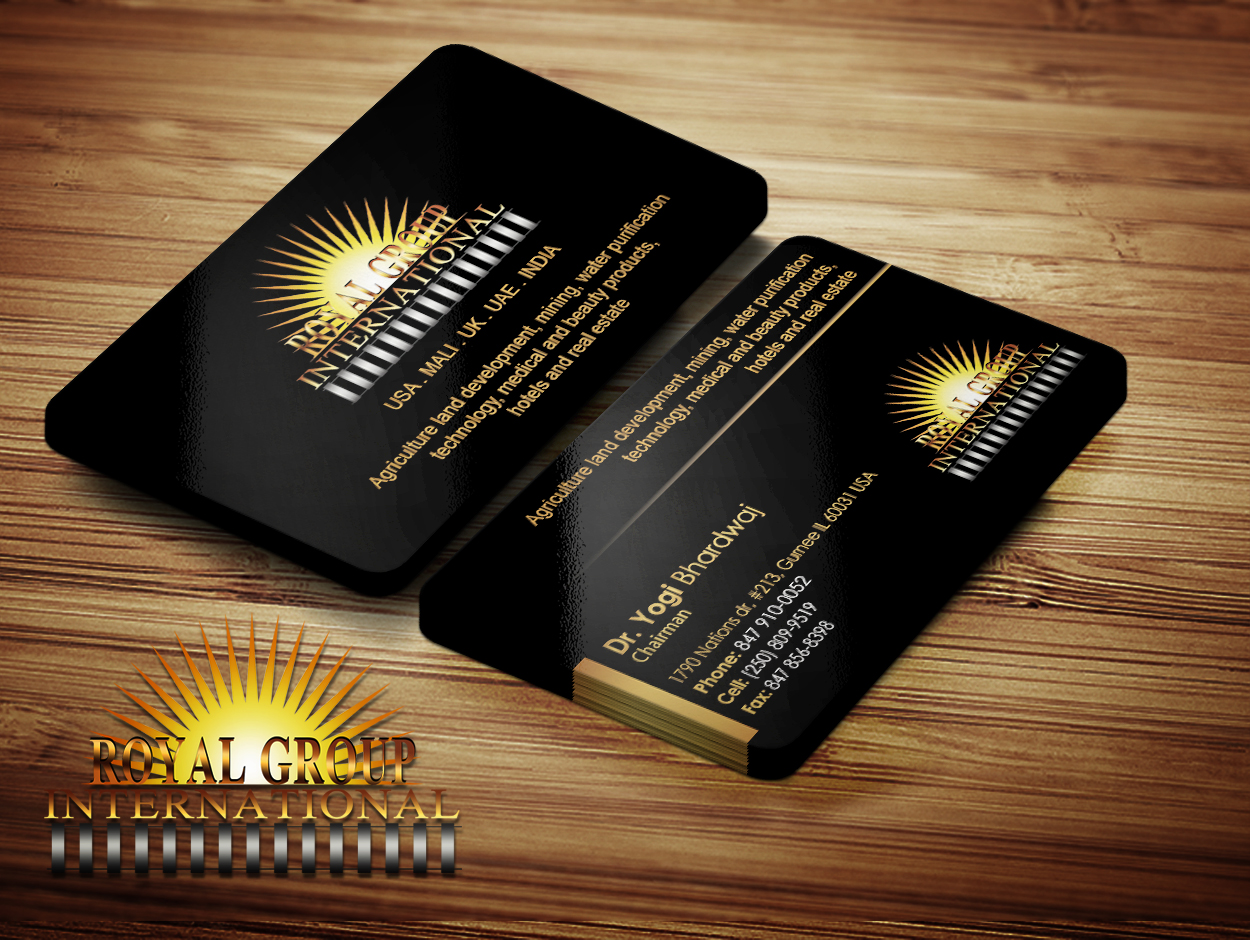 Business Card Design by Private User - Entry No. 34 in the Business Card Design Contest Royal Group International Business Card Design.