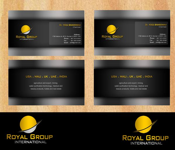 Business Card Design by Respati Himawan - Entry No. 40 in the Business Card Design Contest Royal Group International Business Card Design.