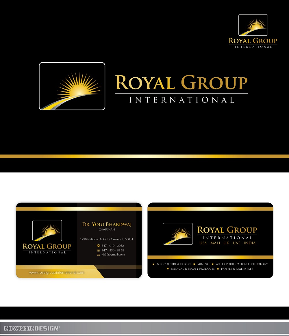 Business Card Design by kowreck - Entry No. 41 in the Business Card Design Contest Royal Group International Business Card Design.