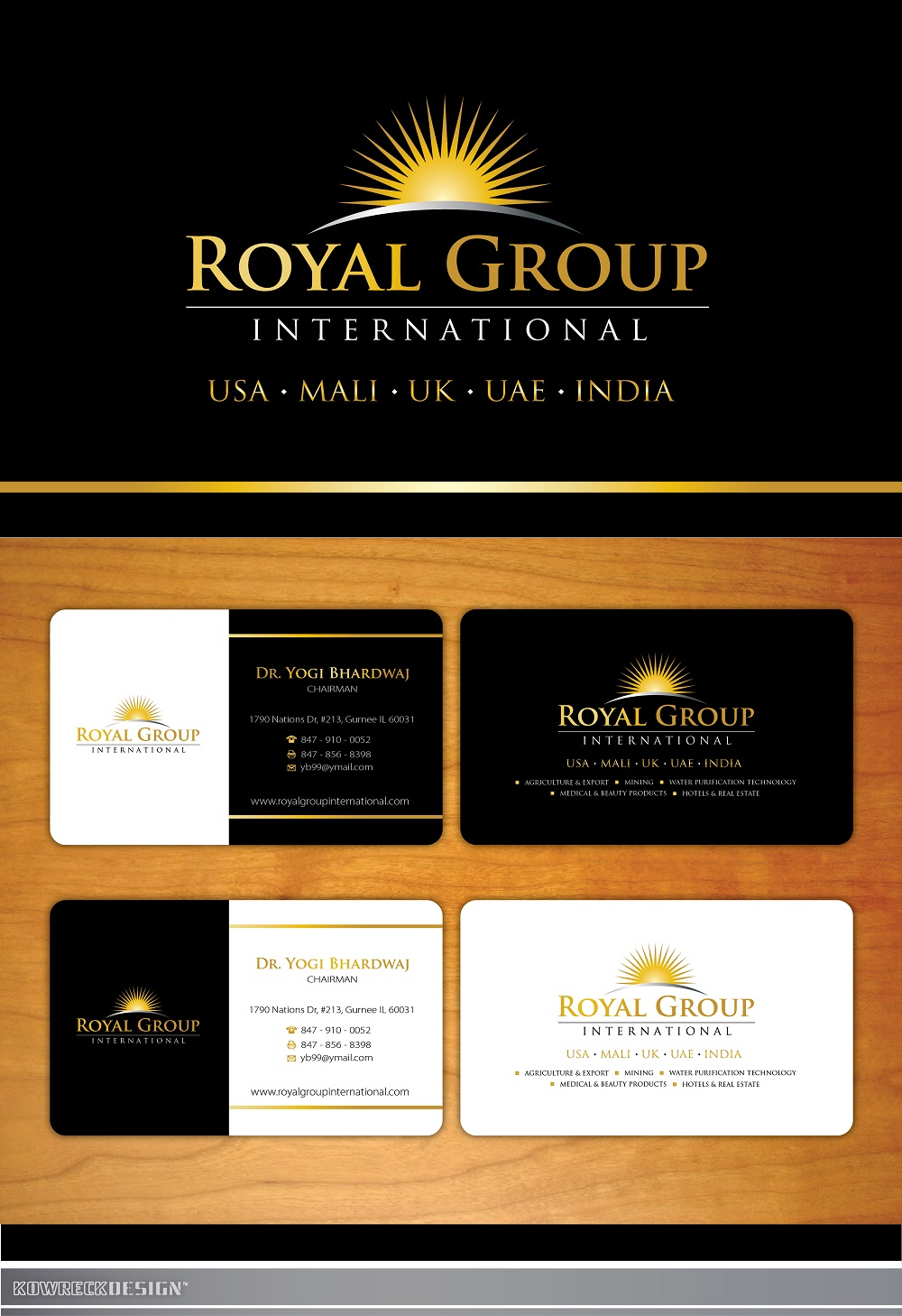 Business card design contests royal group international business business card design by kowreck entry no 46 in the business card design contest colourmoves
