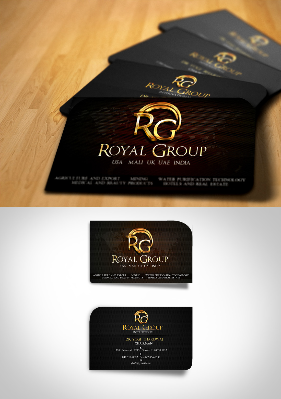Business Card Design by Oliver WangHo - Entry No. 47 in the Business Card Design Contest Royal Group International Business Card Design.