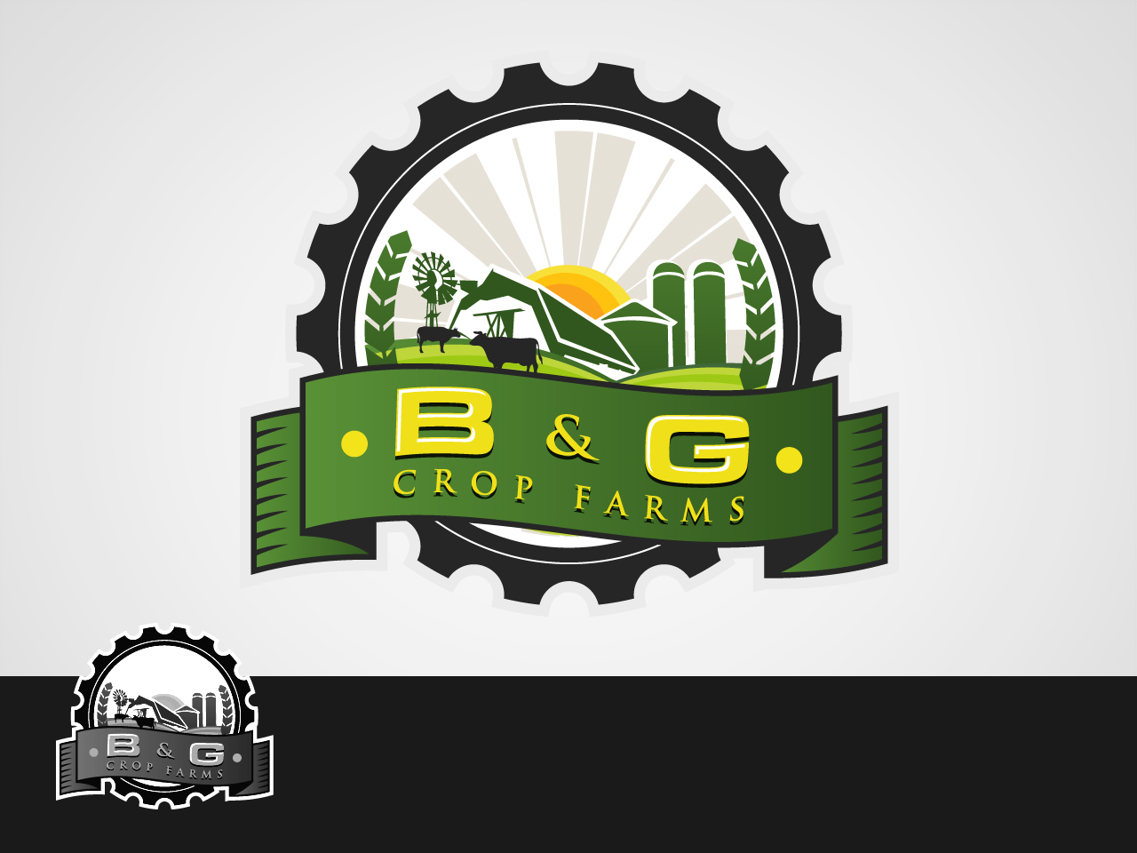 Logo Design by jpbituin - Entry No. 48 in the Logo Design Contest Artistic Logo Design for B & G Crop Farms.