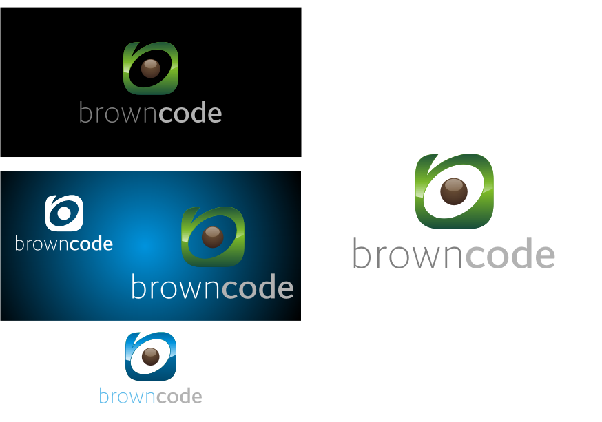 Logo Design by graphicleaf - Entry No. 109 in the Logo Design Contest New Logo Design for Brown Code.