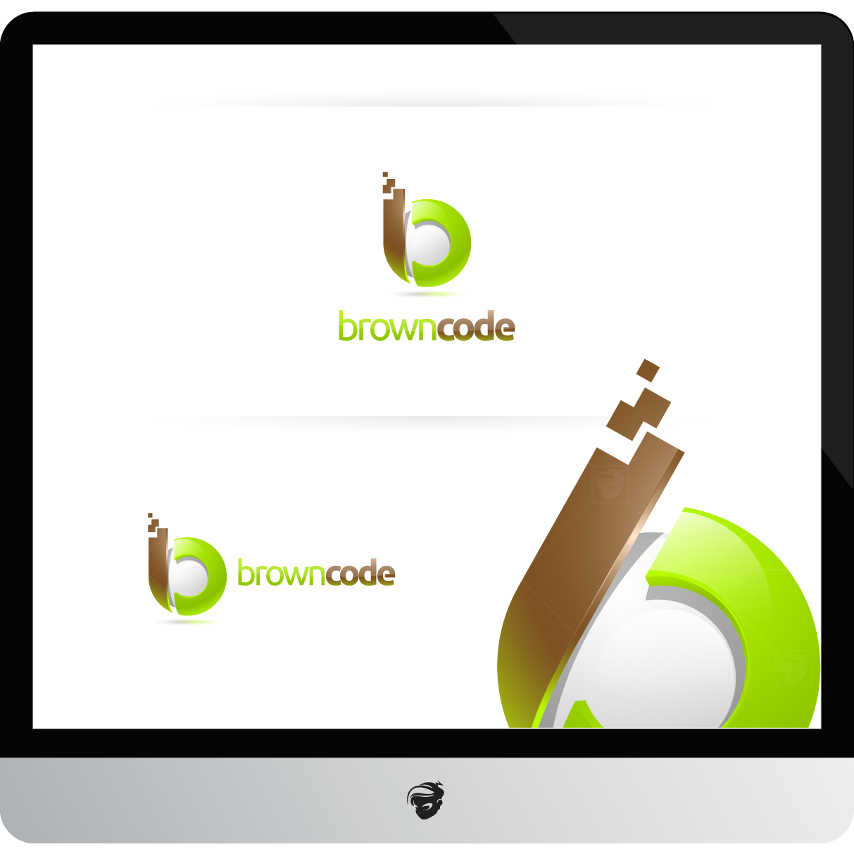 Logo Design by zesthar - Entry No. 121 in the Logo Design Contest New Logo Design for Brown Code.